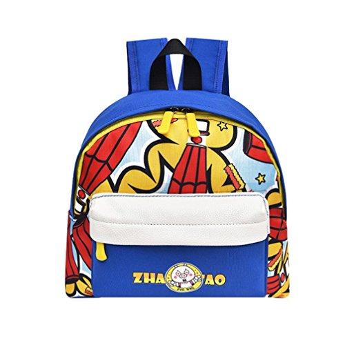 Toddler Nursery Mini School Bag, Vertily Travel Cartoon Animal Printed Backpack (Blue) by Vertily Bag