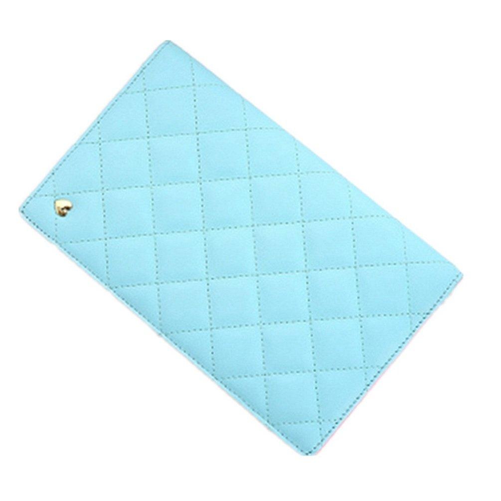 TGLOE  タイトル:本革パスポートケース キャンディー色 二つ折り証明書袋 多機能カードポーチ トラベル航空券チケットバッグ 女性 B00MJXS7I8 ブルー