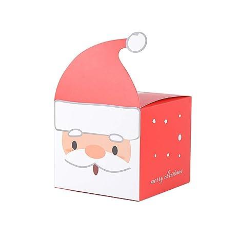 25pcs Cajas Papa Noel Caramelos Dulces Galletas Pequeñas Regalo para Invitados Decoración Fiesta Navidad Cajas Navideñas