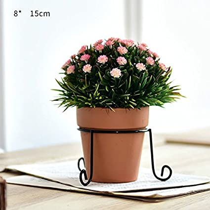 Plantas en macetas adornos de flores decoraciones smallbonsai flor de plástico,Mariposa rosa