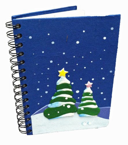 Mr. Ellie Pooh Holiday Trees Poo Paper Notebook (040-609132738906) - Pooh Notepad