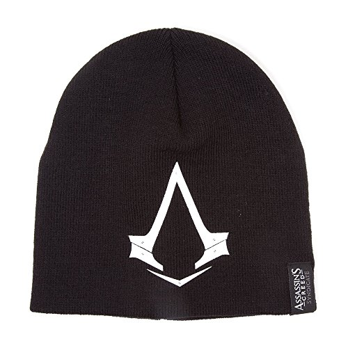 Assassin's Creed Brotherhood Costume (Assassin's Creed Syndicate Brotherhood Crest Beanie | One Size | Black/White)
