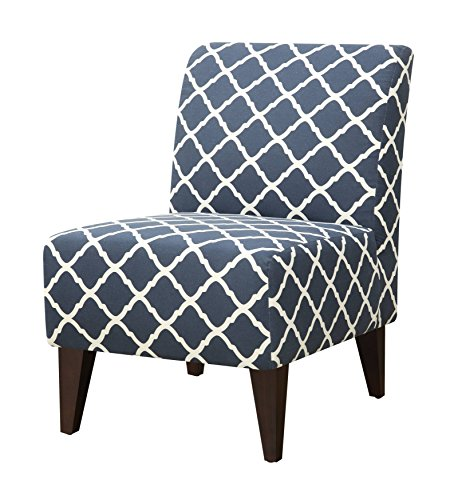 Abbey Avenue A-LAU-631AC Lauren Accent Slipper Chair, Blue For Sale