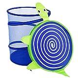 Ekea-Home Mesh Dustproof Cartoon Foldable Laundry Basket Animal Storage Bag Clothes Hamper Kid Toy Storage Blue Turtle