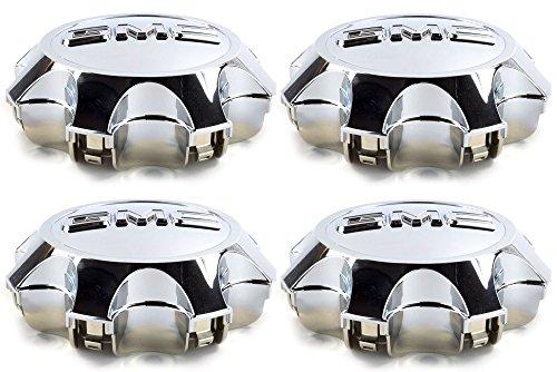 OEM NEW Wheel Hub Center Caps Set of 4 Chrome w/ GMC Logo 11-14 Sierra 9597791 by GMC