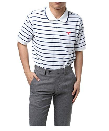 ツアーステージ ゴルフウェア ポロシャツ 半袖 鹿の子ボーダー半袖ポロ JTMH1A WH L