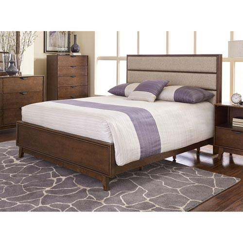 a14b3ba29344a Amazon.com  Progressive Furniture Mid-Mod Transitional Queen Upholstered  Panel Complete Bed