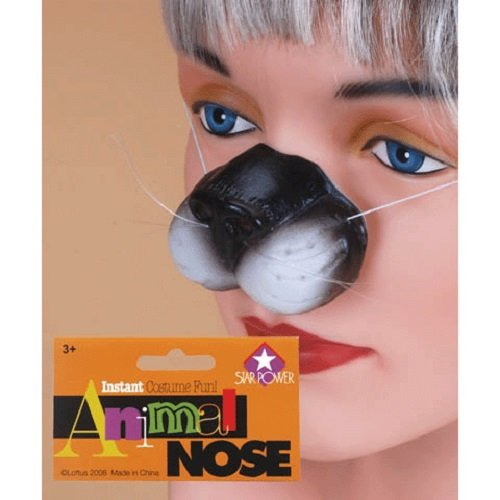 Loftus International Star Power Cute Kitty Cat Adjustable Nose White Black One-Size Novelty Item
