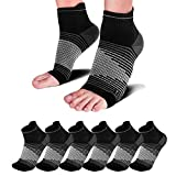 Compression Socks Sleeves (6 Pairs) for Heel Pain