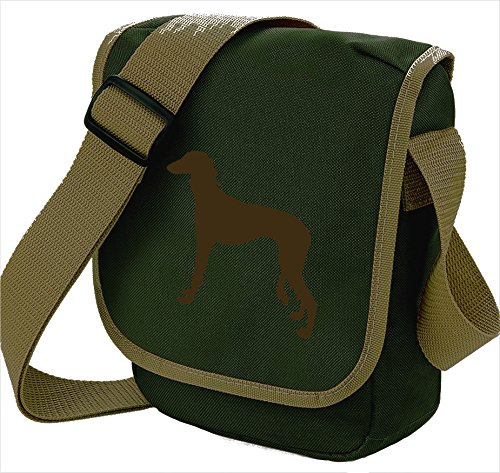 Bag Saluki Dog Silhouette Desert Colours Bag Choice of Brown Sighthound Saluki Dog Reporter Bag Gift Saluki Bag Olive Shoulder Dog 8dXqqw