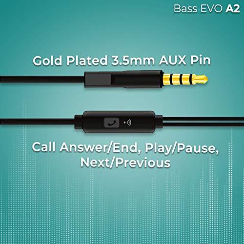 Foxin Bass EVO A2 in-Ear Earphones with Mic (Black)