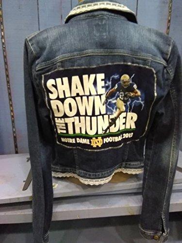 Notre Dame embellished Denim Jacket by The Treasure Shop (Indiana)