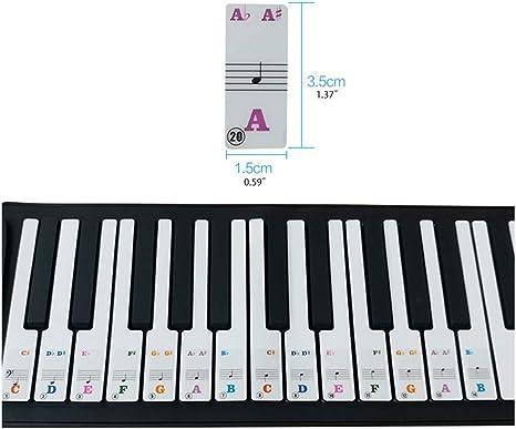 YiFeiCT Teclas de piano para 61 teclas, teclado de piano ...