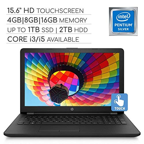 HP 15.6-Inch HD Touchscreen Laptop, Intel Pentium N5000/Core i3-7100U/i5-7200U, 4GB/8GB/16GB DDR4,...