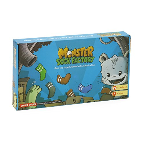 MONSTER SOCK FACTORY First step to multiplication STEM toy Math manipulative and game Gift for 8 years and up