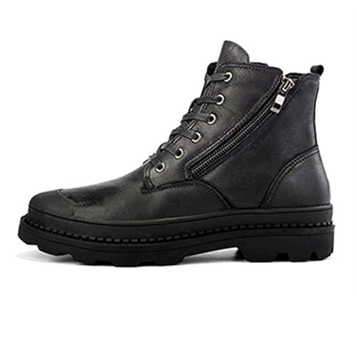 WDYY Herbst Und Winter Herren Leder Casual Martin Stiefel Hohe Schuhe Plus  SAMT Große Größe Herrenschuhe 6e76f473ed
