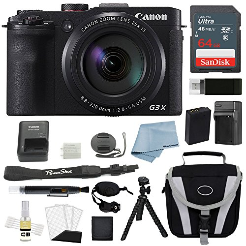 Canon PowerShot G3X Digital Camera Bundle + Deluxe Accessory Bundle – Including EVERYTHING You Need To Get Started For Sale
