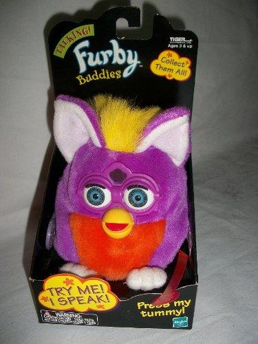 Taking FURBY BUDDIES - Purple Body, Orange Belly, Yellow Hair, White (Furby Buddies)