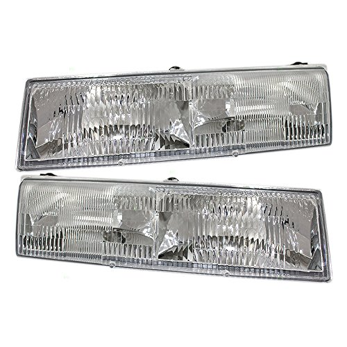 New Mercury Cougar Headlight - Driver and Passenger Headlights Headlamps Replacement for Mercury FOWY 13008 B FOWY 13008 A