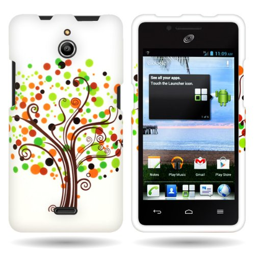 Huawei H881C Case, CoverON [Snap Fit Series] Hard Design Slim Protective Phone Cover Case for Huawei Ascend Plus H881C - Contempo Tree]()