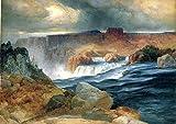 """Shoshone Falls, Idaho by Thomas Moran - 21"""" x 28"""" Premium Canvas Print"""