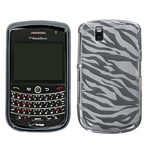 MyBat Zebra Skin Candy Skin Cover for Blackberry 9630 (Tour) - Retail Packaging - - Transparent Faceplate Design Smoke