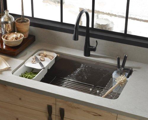 KOHLER K 5871 5UA3 47 Riverby Single Bowl Undermount Kitchen Sink, Almond      Amazon.com