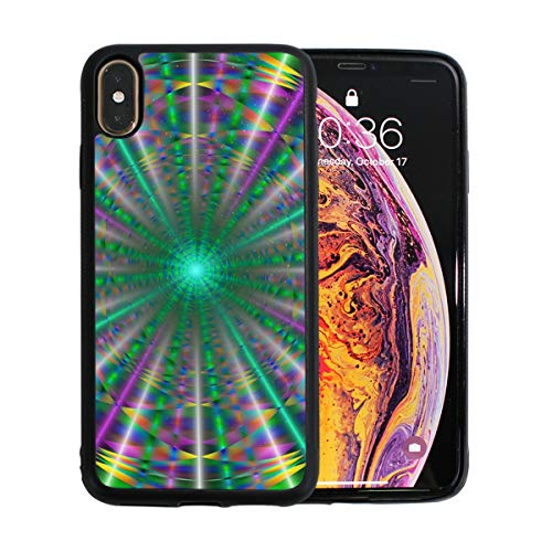 - Psychedelic Laser Rays iPhone Xs Max Case. TPU + Pearl Plate + PC Material Cover Case Drop Protection Multifunction Shock Absorption Phone Case for iPhone Xs Max