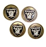 Oakland Raiders NFL Golf Ball Markers (Set of 4)