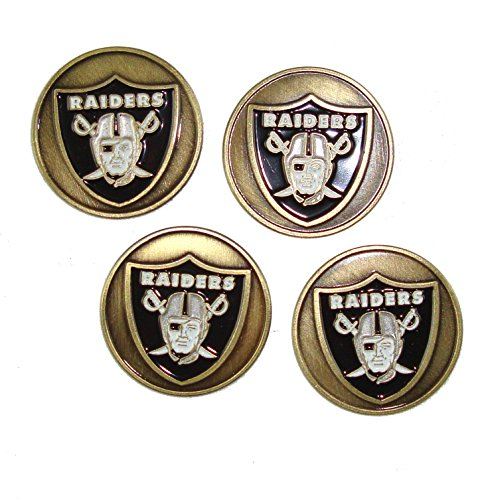 Oakland Raiders NFL Golf Ball Markers (Set of 4) by Waggle Pro Shop