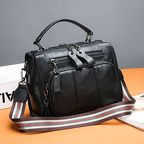 e0e1e958e86cd SAOGA Hippie Tasche weibliche koreanische Mode Handtasche Handtasche  Handtasche breite Schulter Schulter geschlungen weiches Leder Sense Boston  Tasche ...