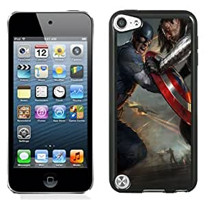 New Personalized Custom Designed For iPod Touch 5th Phone Case For Captain America The Winter Soldier 2014 Film Phone Case Cover wangjiang maoyi