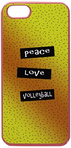 Graphics and More Peace Love Volleyball Snap-On Hard Protective Case for iPhone 5/5s - Non-Retail Packaging - Pink - Iphone5s Volleyball Cases