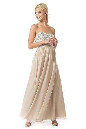 Amazon.com  Teeze Me Juniors Strapless Beaded Corset Long Ball Gown ... 62e70b580