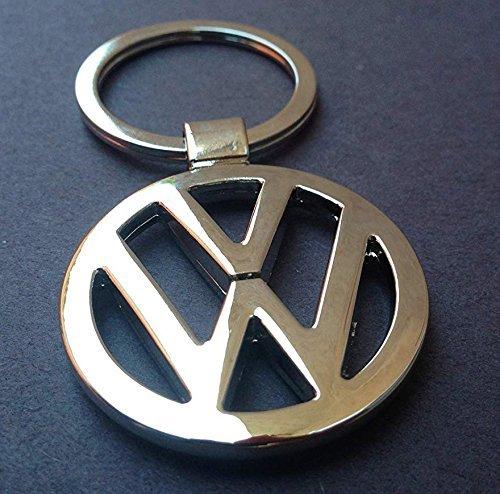 Keychain Chrome Key Ring Metal (ESMPRO for VW Volkswagen Car Logo Keychain Keyfob 3D Chrome Metal Car Key Chain Keyring)