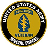 1 Pc Outstanding Popular US Army Veteran Special Forces Sticker Sign Military Vinyl Bumper Size 8
