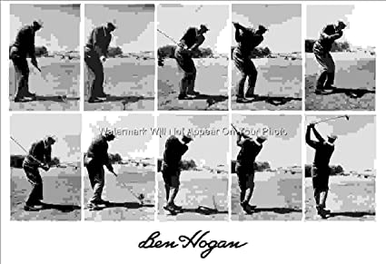 amazon com ben hogan 10 photo swing sequence at olympic 1966