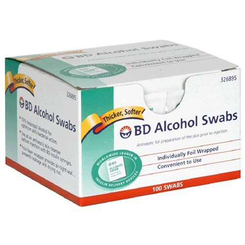 BD Alcohol Swabs 100 Each ( 2) - Buy Packs and SAVE (Pack of 3) by BD