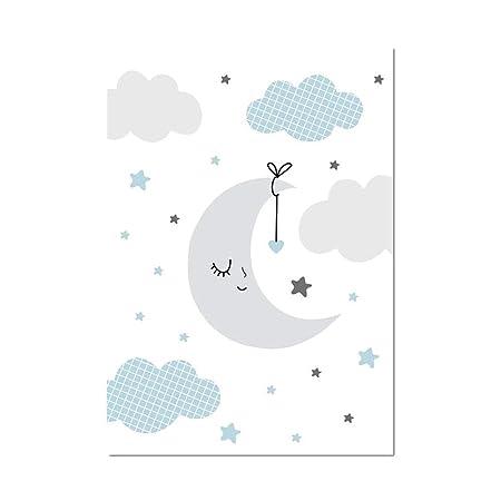 MYGYSJK Pintura Oso Luna Oveja Nube Imagen Arte Cartel Pared ...