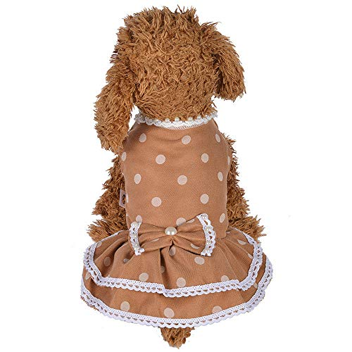 Clearance Pet Clothes Cinsanong Fashion New Pearl Dot Skirt Lovely Spring and Summer Dog Costumes Apparel