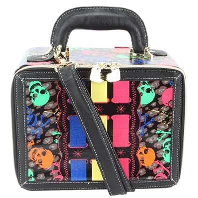 Betsey Johnson Signature Mini Suitcase-Black
