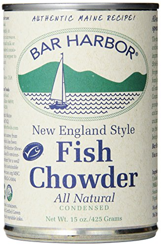 Fresh Fish Mussel - Bar Harbor Chowder, Wild-Caught Alaskan Fish Chowder, 15 Ounce (Pack of 6)