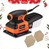Palm Sander, Tacklife Sander 2A Amp,240W &15000 OPM with 12 pcs Sandpaper,Low Vibration, Low Noise,Soft Rubber Handle | PSS01A