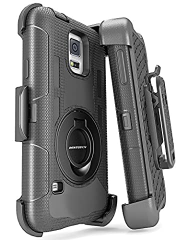 Samsung Galaxy S5 Case, Galaxy S5 Case, BENTOBEN Hybrid Protective Soft&Hard Case with Rotating Kickstand Belt Clip Holster Cover Case for Samsung Galaxy S5 S V I9600 GS5 All Carriers, (Best Samsung S5 Case)