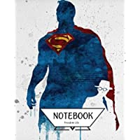 """Notebook Journal Graph, Line, Blank No Lined: Watercolor Superman Vol.2: Pocket Notebook Journal Diary, 120 Pages, 8"""" X 10"""" (Notebook Journal)"""