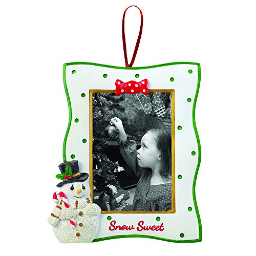 """Christmas Snowman Pictures (Precious Moments, Christmas Gifts, """"Snowman Photo Frame with Easel Back"""", Resin, #161418)"""