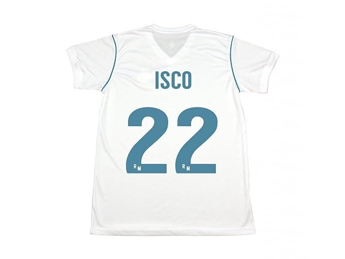 Camiseta Isco. Réplica Oficial de la Primera Equipación del Real Madrid Temporada 2017-2018