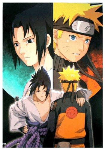 Anime Naruto Shippuden & Sasuke - High Grade Laminated Poster