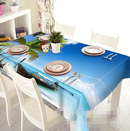 3d isla ocio 783 gamuza de funda para mesa mantel fiesta de ...