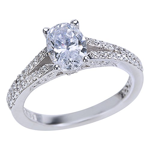 Tacori Diamond Engagement Ring Setting in 18k White Gold Style 3001(0.34 ct) (Tacori Engagement Ring)